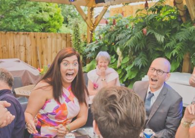 Chris Piercy Magic - Back Garden Wedding Magician performance