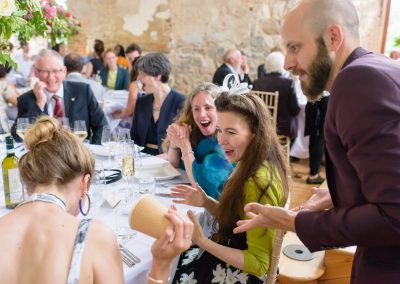 Chris Piercy Magic - Wedding Magician at Lulworth Castle Wedding Table Magic