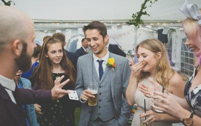 The strange yet highly logical reason to book a wedding magician