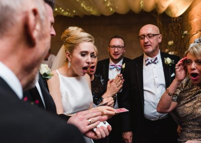 Chris Piercy Magic Axnoller House Wedding Magician performance photo