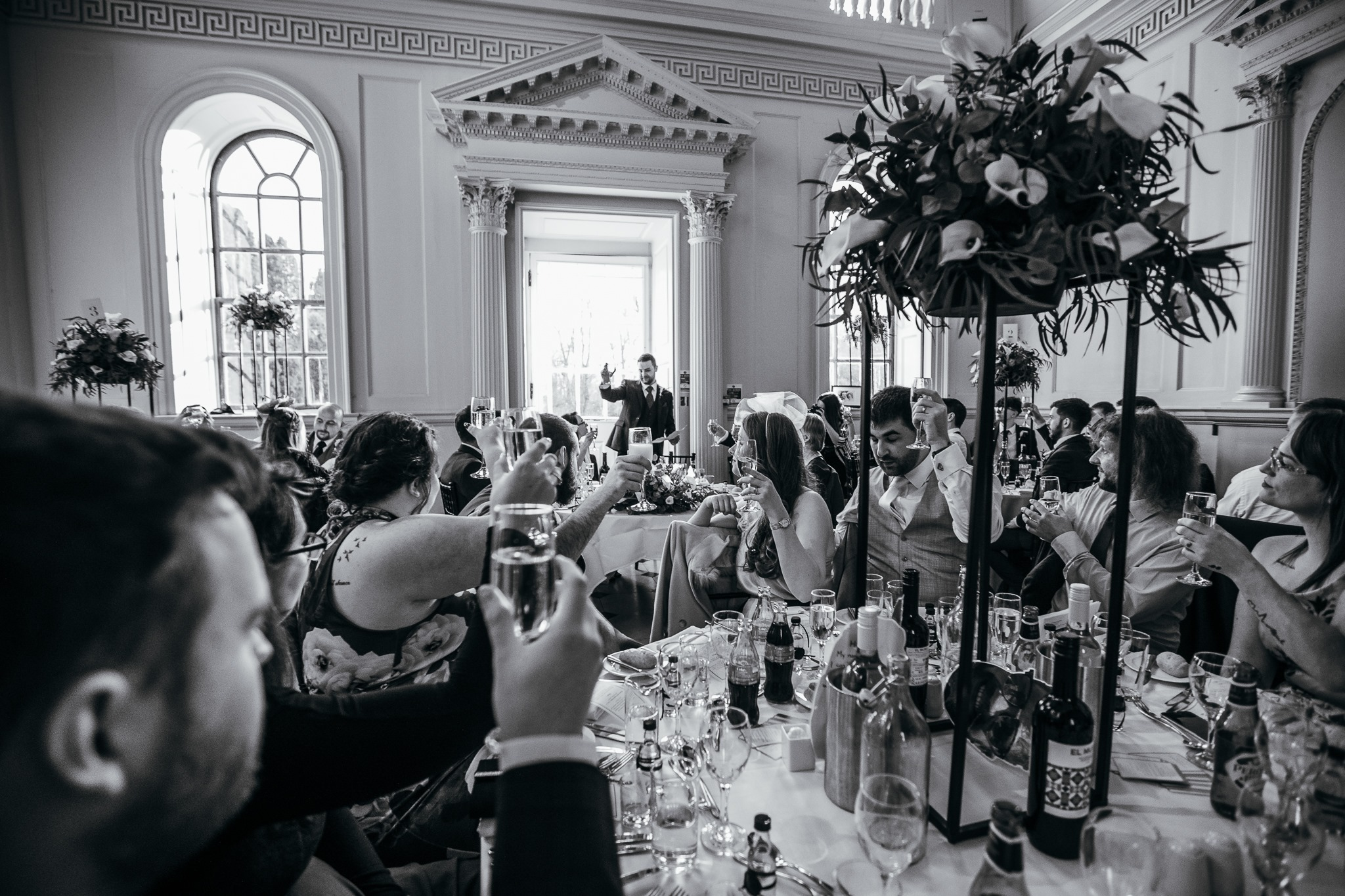 Guest cheers at a Wedding Breakfast Speech