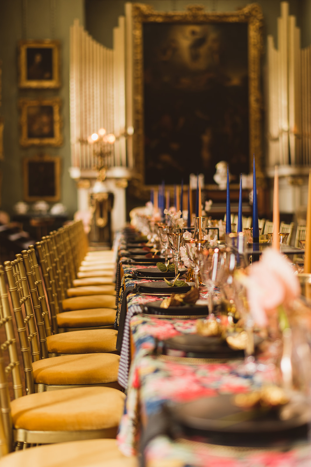 Dark Blue and Gold Luxury Wedding Styling - Bridle Photography
