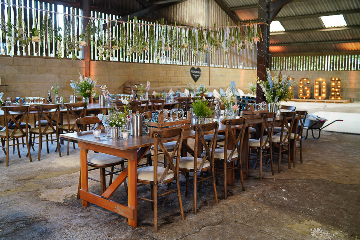 Rustic Barn Wedding Breakfast - TP Photography