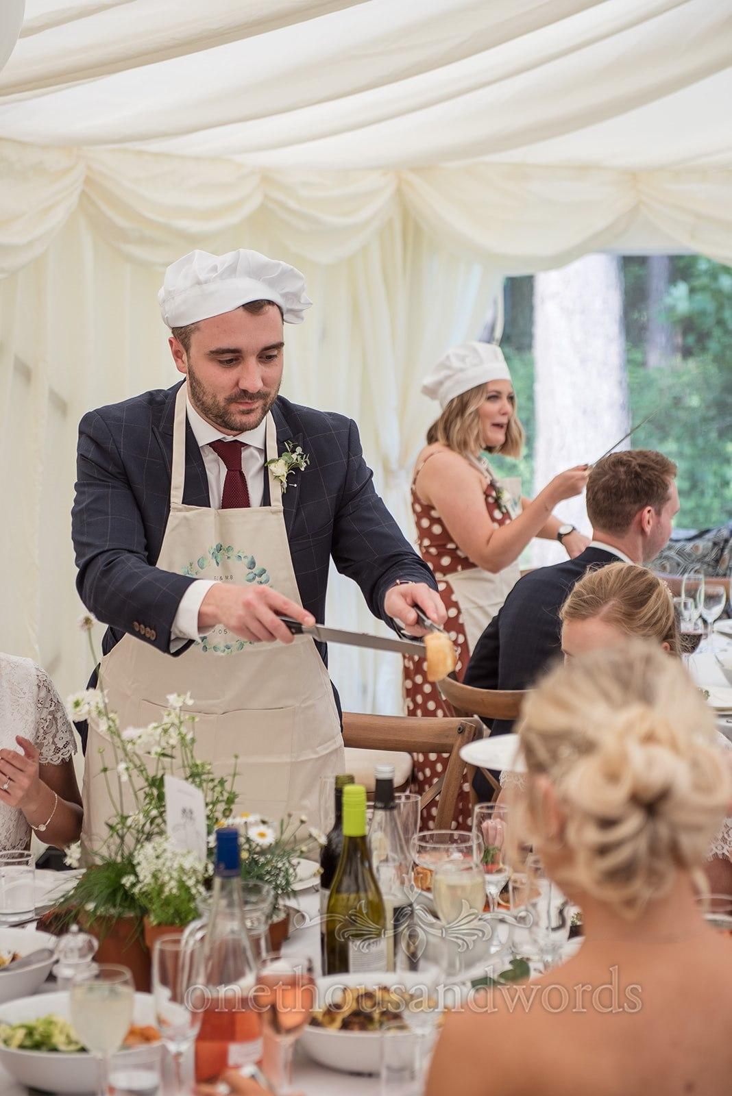 Wedding Breakfast Table Servers - One Thousand Words Photography