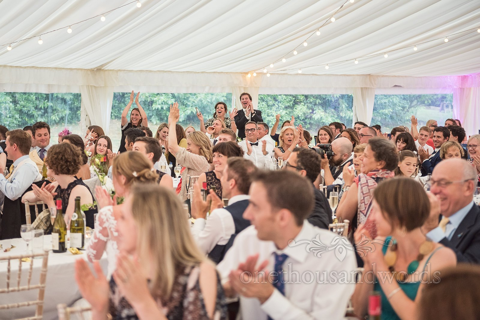 Guest loving a wedding speech - One Thousand Words Photography